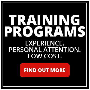 bd0ff3bdf0120 Training Programs - Experience. Personal Attention. Low Cost. Find Out More.