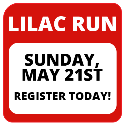 Lilac Run - Sunday, May 21st, Register Today!